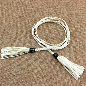**3/$25** Boho White Braided Leather Belt